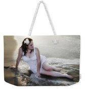 Girl In The Surf Weekender Tote Bag