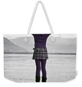 Girl On The Shores Of Lake Maggiore Weekender Tote Bag
