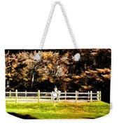 Girl Riding Horse Weekender Tote Bag
