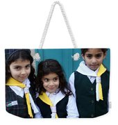 Girl Scouts At Orthodox Christmas Celebration Weekender Tote Bag