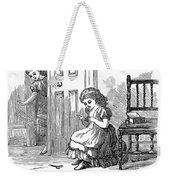 Girl Sewing, 1873 Weekender Tote Bag