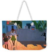 Girl Skipping Weekender Tote Bag