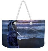 Girl Watching The Sun Go Down At The Ocean Weekender Tote Bag