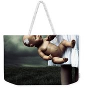Girl With A Baby Doll Weekender Tote Bag