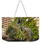 Girl With A Dolphin Weekender Tote Bag