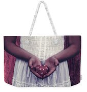 Girl With A Heart Weekender Tote Bag