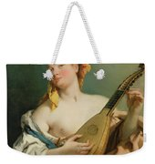 Girl With A Mandolin Weekender Tote Bag