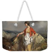 Girl With A Pitcher Weekender Tote Bag by PF Poole