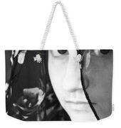 Girl With A Rose Veil 3 Bw Weekender Tote Bag