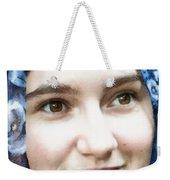 Girl With A Rose Veil 4 Illustration Weekender Tote Bag