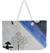 Girl With A Umbrella Weekender Tote Bag