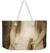 Girl With Books Weekender Tote Bag