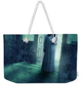 Girl With Candle In Doorway Weekender Tote Bag