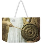 Girl With Gong Weekender Tote Bag