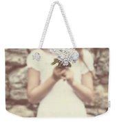 Girl With Hydrangea Weekender Tote Bag