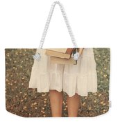Girl With Old Books Weekender Tote Bag