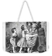 Girls And Donkeys, C1870 Weekender Tote Bag