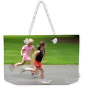 Girls Running Weekender Tote Bag
