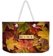 Give-autumn Weekender Tote Bag