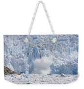 Glacial Ice Calving Into The Water Weekender Tote Bag