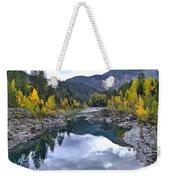 Glacier Reflection Weekender Tote Bag
