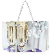 Glasses Of Champagne Weekender Tote Bag by Amanda Elwell