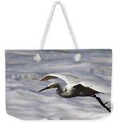 Gliding Snowy Egret Weekender Tote Bag