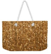 Glistening Gold Prairie Grass Abstract Weekender Tote Bag