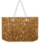 Glistening Gold Prairie Grass Abstract Weekender Tote Bag