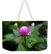 Globe Amaranth Bicolor Rose Weekender Tote Bag