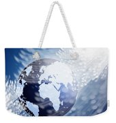 Globe With Fiber Optics Weekender Tote Bag