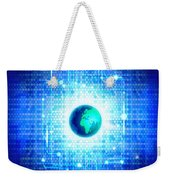 Globe With Technology Background Weekender Tote Bag