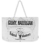 Glory, Hallelujah Weekender Tote Bag by Photo Researchers