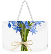 Blue Wildflower Bouquet Weekender Tote Bag