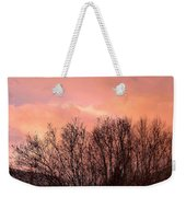 Glow Of A Winter Sunset Weekender Tote Bag