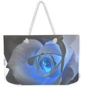 Glowing Blue Rose Weekender Tote Bag