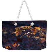 Glowing Maple Leaves Weekender Tote Bag
