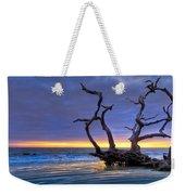 Glowing Sands At Driftwood Beach Weekender Tote Bag by Debra and Dave Vanderlaan