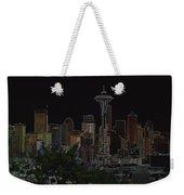 Glowing Seattle Skyline Weekender Tote Bag