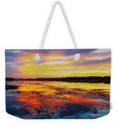 Glowing Skies Over Crews Lake Weekender Tote Bag