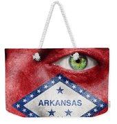 Go Arkansas  Weekender Tote Bag by Semmick Photo