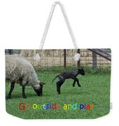 Go Outside And Play Rainbow Weekender Tote Bag