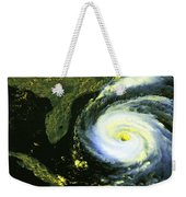 Goes 8 Satellite Image Of Hurricane Fran Weekender Tote Bag by Science Source