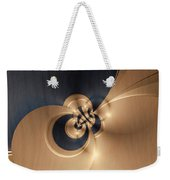 Gold And Indigo Weekender Tote Bag