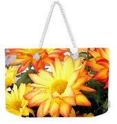 Gold And Red Autumn Mums Weekender Tote Bag
