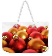 Gold And Red Xmas Balls Weekender Tote Bag