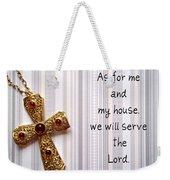 Gold Cross Weekender Tote Bag by Cynthia Amaral
