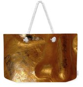 Gold Face Of Buddha Weekender Tote Bag