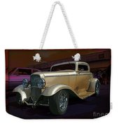 Gold Hot Rod Weekender Tote Bag
