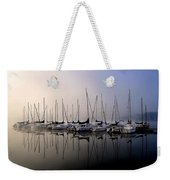 Gold N Blue Sailboats Too Weekender Tote Bag